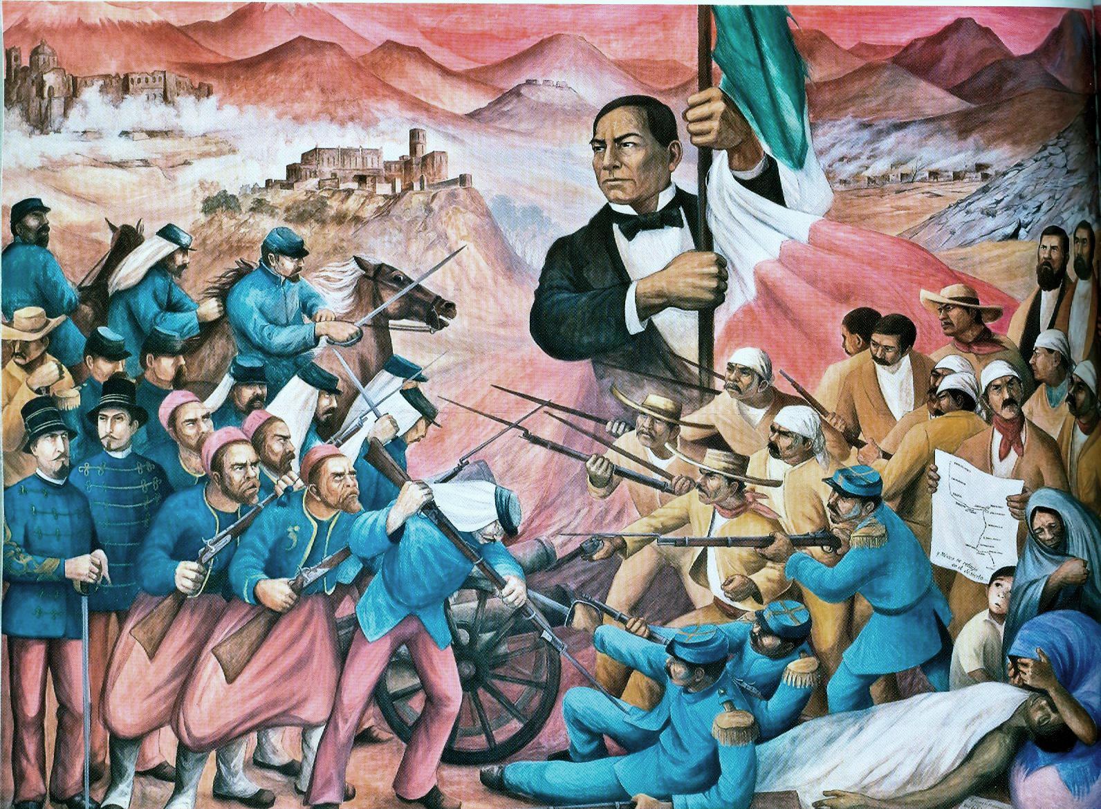 Benito Juarez en la batalla del 5 de mayo