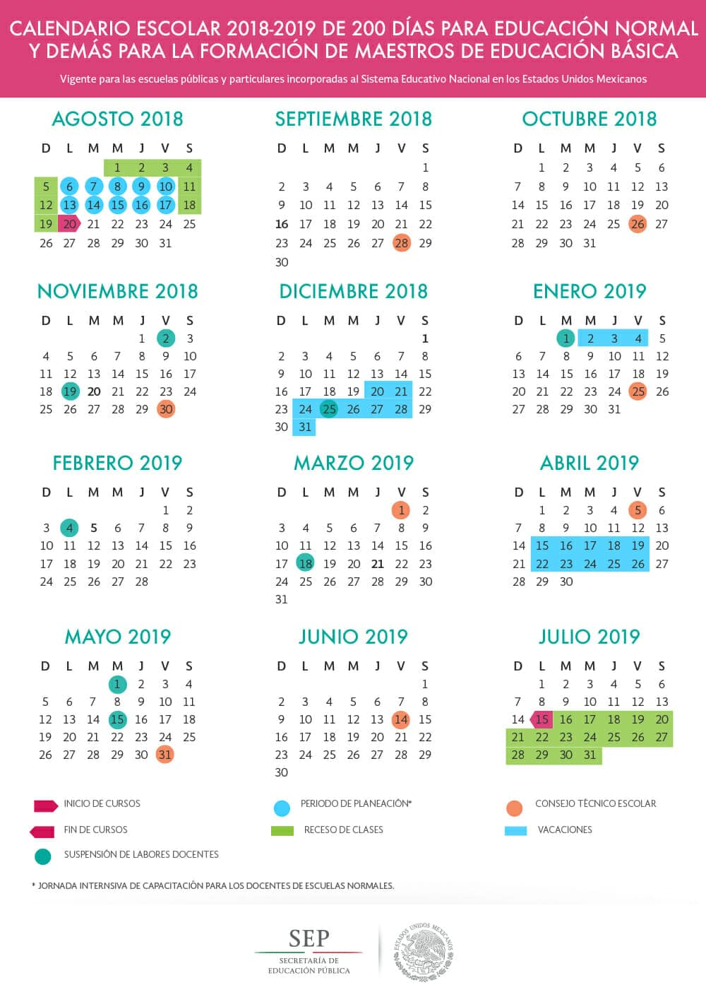 meses de invierno en calendario escolar